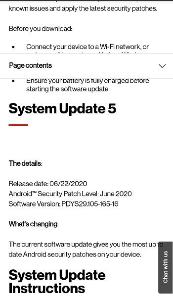 verizon moto g7 play june update