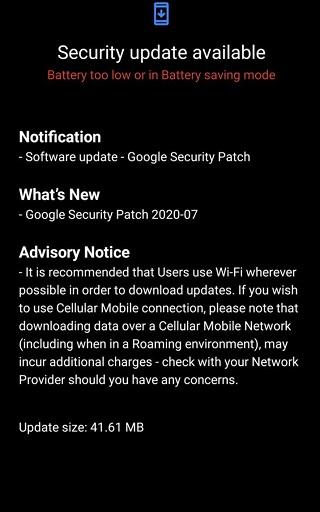 Nokia 6.1 July OTA