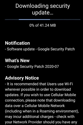 Nokia 7 PLus JUly OTA