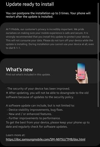 Samsung Galaxy Note 10+ (T-Mobile) July OTA