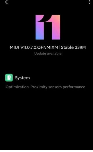Xiaomi Mi Note Lite update