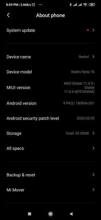 redmi note 7s android 10-1
