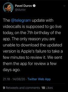 elegram-video-call-update