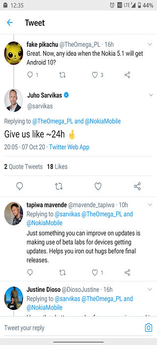 Nokia-5.1-Android-10-update-today