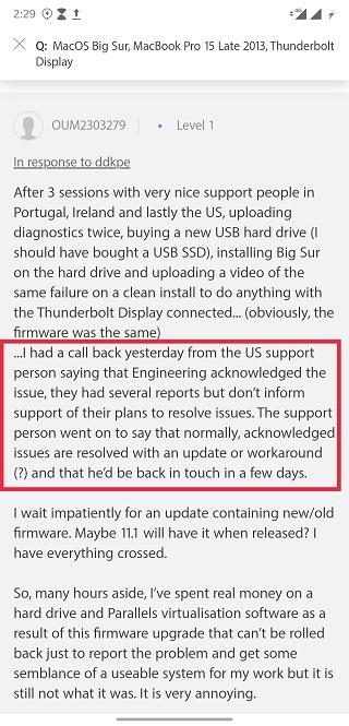 macbook thunderbolt monitor boot issue
