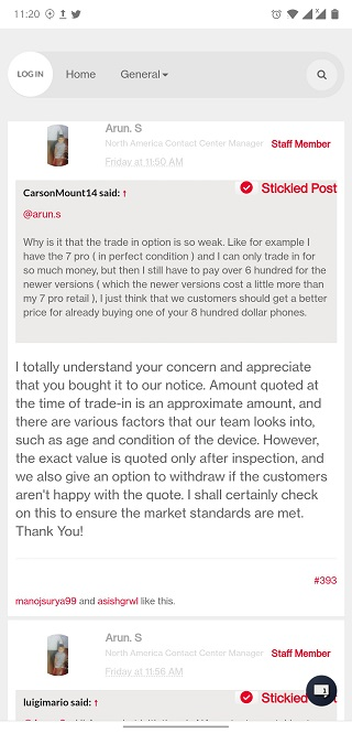 OnePlus trade in options