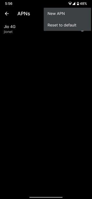 pixel reset apn