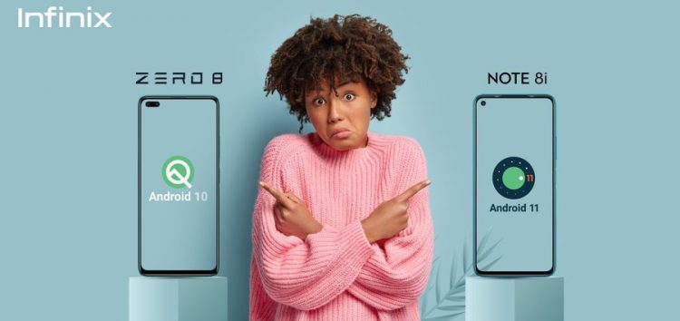 Infinix teases Android 11 update for Infinix Zero 8 & Note 8i, release date to be shared soon