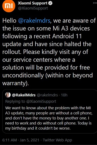 Mi-A3-Android-11-update-issues