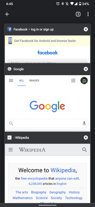 chrome-vertical-card-view