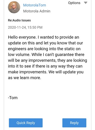 motorola-one-fusion+-buzzing-static-sound-from-speakers-issue-acknowledged