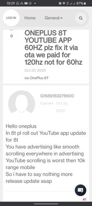 oneplus 8t 120hz youtube