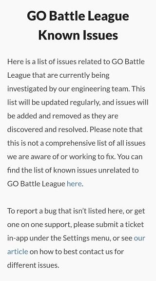 Pokemon-Go-GO-Battle-League-known-issues