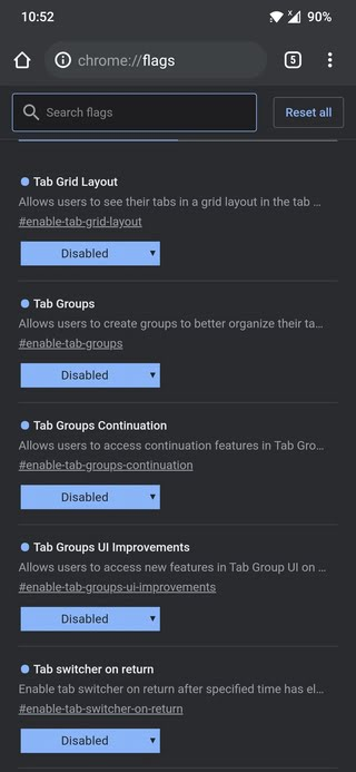 chrome-tab-groups-android