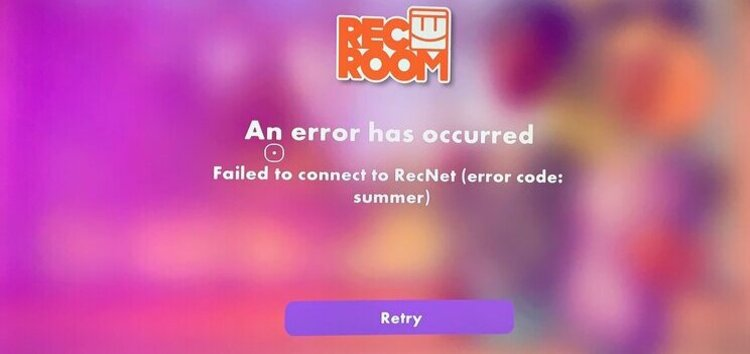 "Rec Room ""error code: summer"" and ""unable to login (code 3)"" popups troubling with login? Here's what we know"