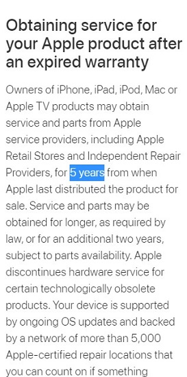 Apple-support-5-years