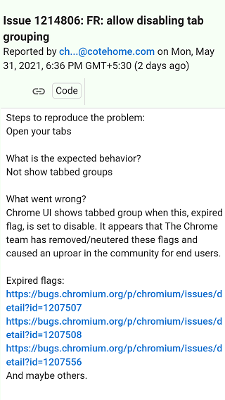 Google-Chrome-91-missing-Tab-Groups-and-more-flags