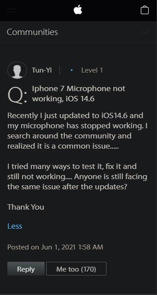 Apple-iPhone-7-Microphone-not-working-after-ios-14.6-update