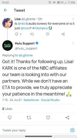 Hulu-NBC-audio-issue-acknowledgement