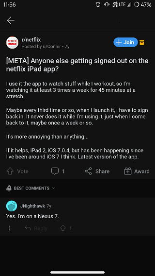 Netflix-automatic-sign-out-issue-old-reports