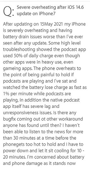 Podcasts-battery-drain-overheating-iOS-14.6.