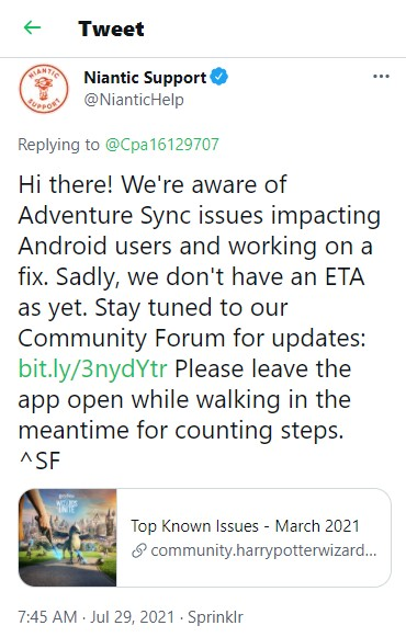 adventure sync android issue