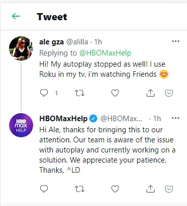 hbo max aware of autoplay issue