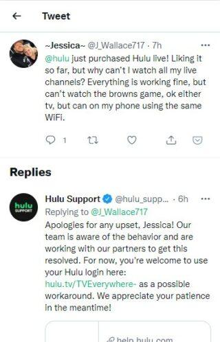 hulu support