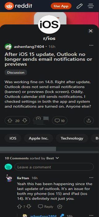 Microsoft-Outlook-iOS-not-sending-push-emai-notifications