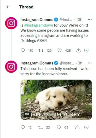instagrm issue fixed