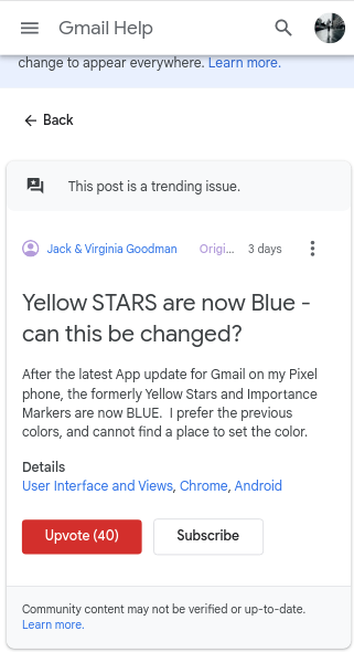 yellow icons gmail gone in come blue